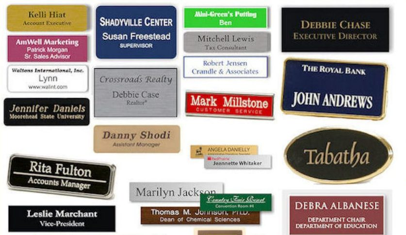 Name Tags Available at Brevard Trophy